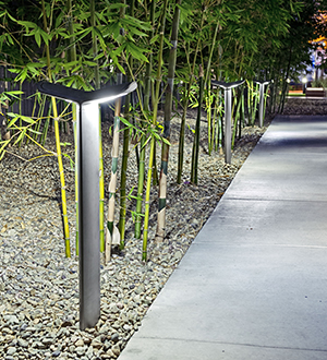 MultipliCITY LED Pathlight bollard by Landscape Forms, Inc.